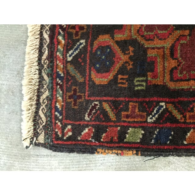 Vintage Balluchi Persian Rug - 1'8 x 1'11 - Image 9 of 10