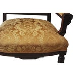 Image of Vintage American Victorian Carved Wood Arm Chair