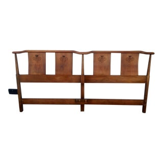 Vintage Walnut King Size Headboard