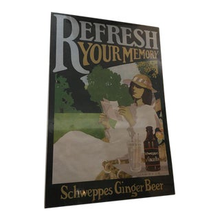 Vintage English Schweppes Ginger Beer Poster