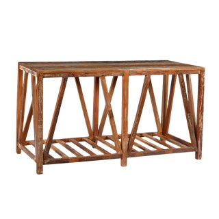 Reclaimed Wood Rustic Console
