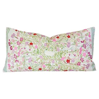 Niki Goulandris Hermes French Floral Silk Pillow
