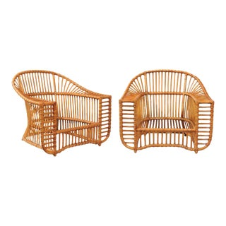 Unique Restored Pair of Lounge or Club Chairs by Henry Olko, circa 1979