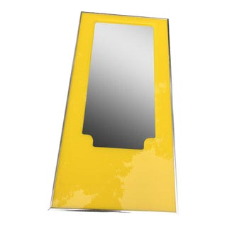 Mid-Century Modern Yellow Lucite Wall Mirror