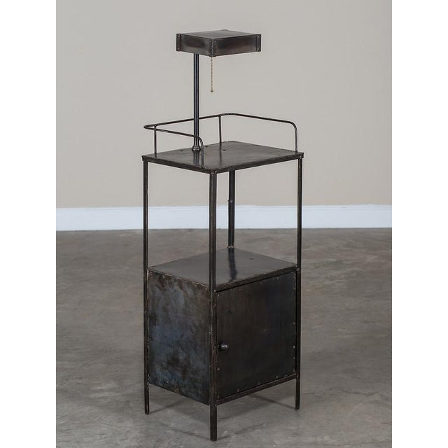 Vintage Industrial French Metal Cabinet with Light circa 1940 - Image 10 of 11