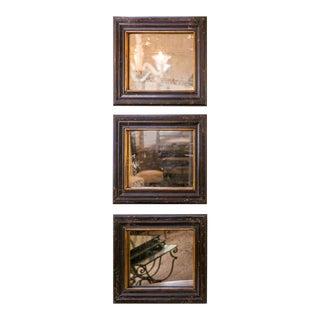 Set of Three Napoleon III Era Wood Mirrors from France, circa 1870