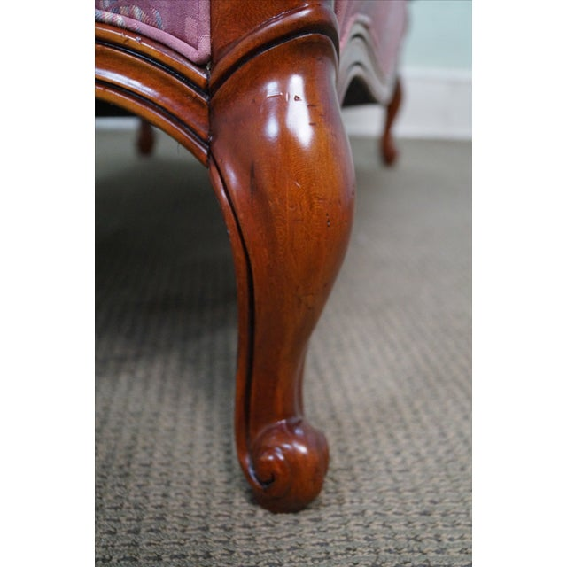 Hickory Chair French Mahogany Frame Loveseat - Image 6 of 10