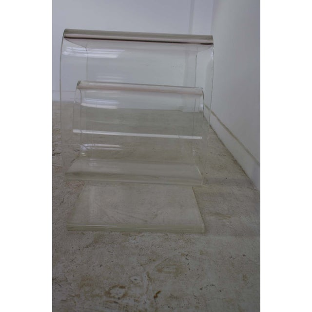 Lucite Spiral Side Table - Image 4 of 10