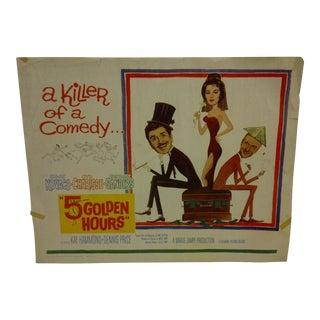 """Vintage Movie Poster """"5 Golden Hours"""" 1961"""