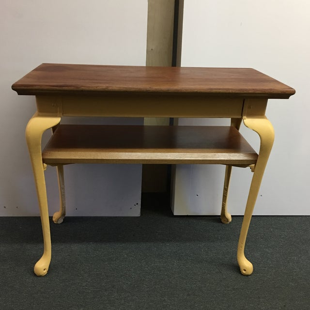 Image of Painted Wood & Metal Console Table