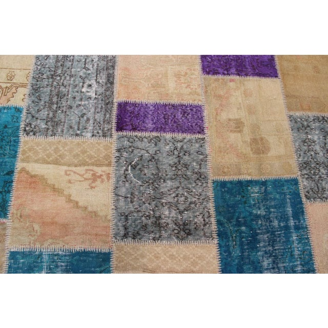 Image of Turkish Patchwork Multicolored Rug - 8′ × 9′10″