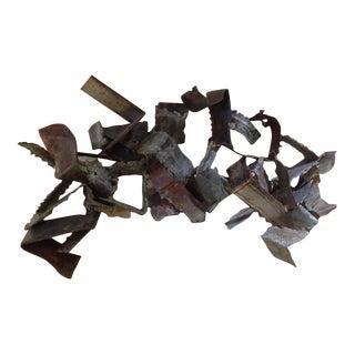 Brutalist Metal Wall Sculpture