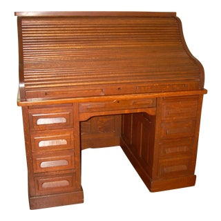 Antique Oak Rolltop Desk