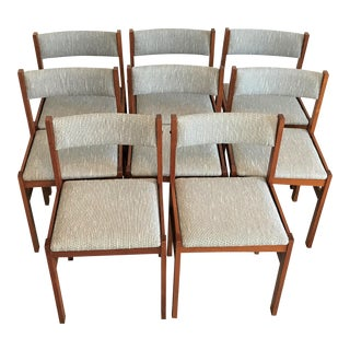Mid Century Jensen Møbler Dining Chairs After Niels Møller – Set of 8