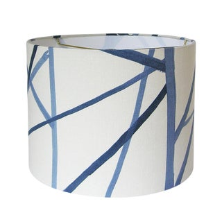 Kelly Wearstler Channel Fabric Drum Lamp Shade
