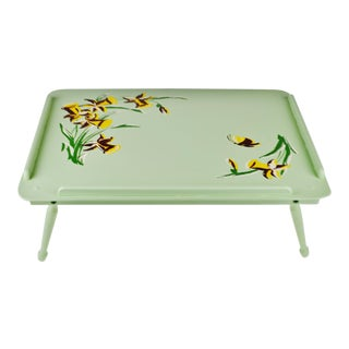Vintage Shabby Chic Painted Wood Adjustable Breakfast Tray