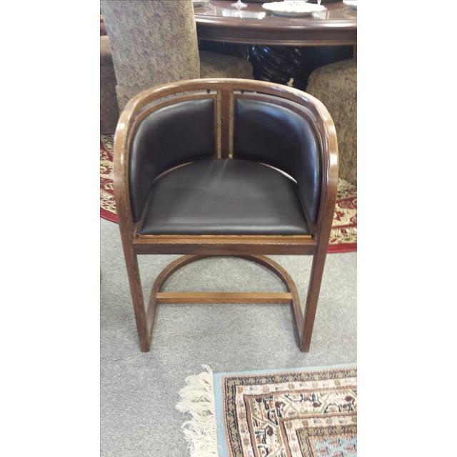 Lignum Vitae & Leather Chair - Image 5 of 5