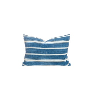 Vintage Striped Indigo Pillow