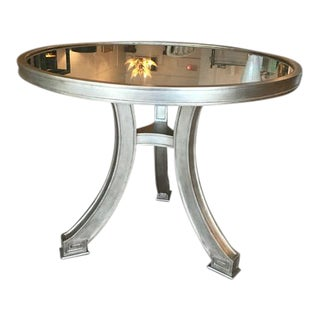 Silver Leaf Eglomise Center Table
