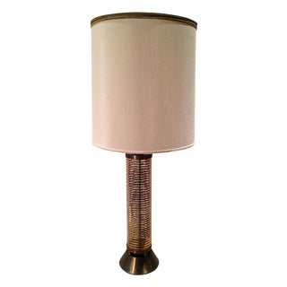 Hollywood Regency Gilt Crackle Lamp