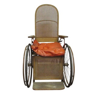 Turn of the Century Wooden Wheelchair