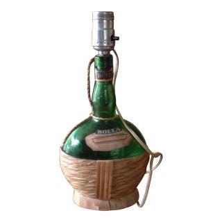 Vintage Italian Wine Bottle Lamp