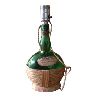 Vintage Italian Wine Bottle Lamp