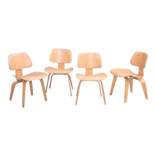 Set of Four Matched Early DCW Dining Chairs by Charles and Ray Eames for Evans