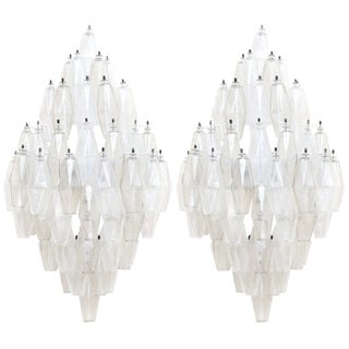 Carlo Scarpa Glass Sconces by Venini, A Pair