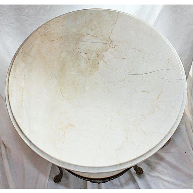 Italian Bronze & Marble Side Table - Image 4 of 6