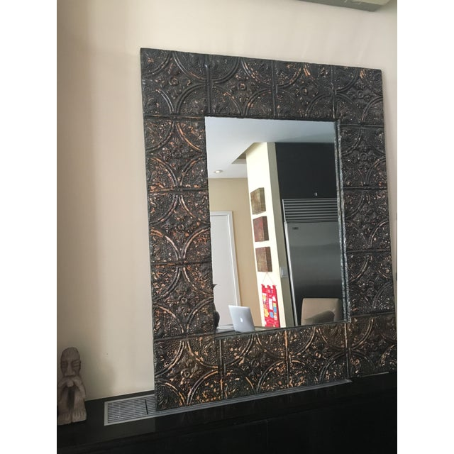 Image of Large Metal Framed Mirror
