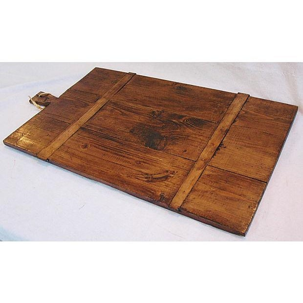 Image of Antique French Wooden Cutting Culinary Board
