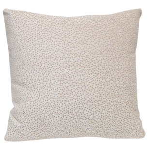 Kravet Chenille Polka Dot Pillow
