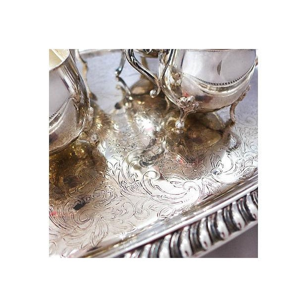 Vintage Five-Piece Silver Plate Tea & Coffee Set - Image 4 of 7