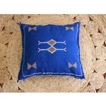 Image of Moroccan Indigo Moon Sabra Cactus Silk Pillow