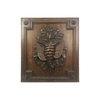 Black Forest Carved Pheasant Plaque