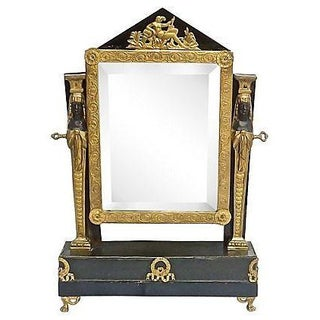 Antique French Empire Vanity Mirror