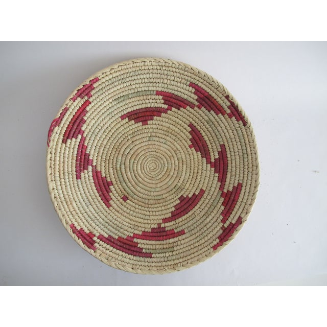 Decorative Pink Navajo Basket - Image 2 of 3