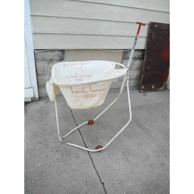 Vintage 1930s Industrial Laundry Cart - Image 2 of 5