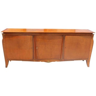 Grand French Art Deco Flame Mahogany Buffet