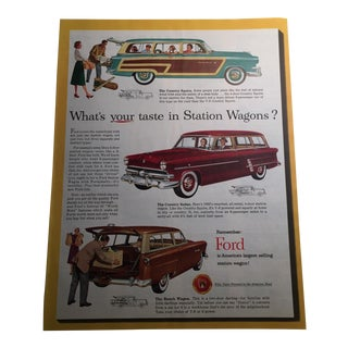 1953 Ford Station Wagons Print Ad