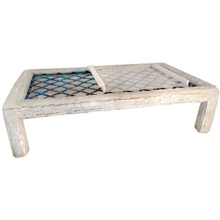 Ralph Lauren Bamboo Table with Woven Iron