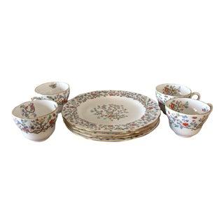 Spode Shanghai Plates & Teacups - 8