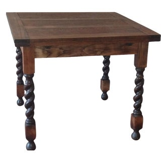 Oak  English Barley Twist Extendable Table