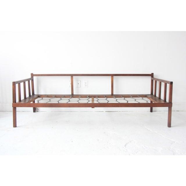 Vintage mid century modern floral rosewood daybed sofa for Mid century daybed sofa