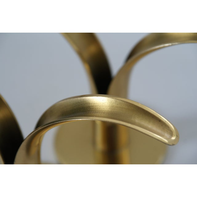 Ystad Brass Lily Candleholders - A Pair - Image 3 of 9