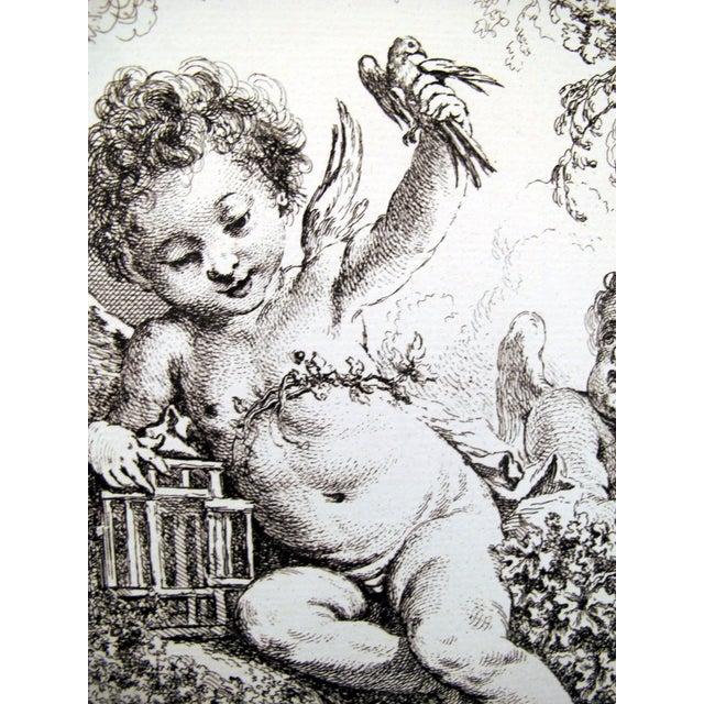 Image of 1856 Rococo Caged Turtledove and Sleep Print