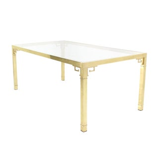 Solid Brass Dining Table by Mastercraft