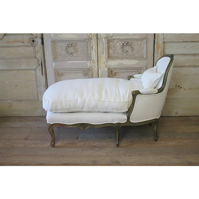 Early 20th Century Louis XV Carved & Original Painted Chaise Lounge - Image 2 of 6