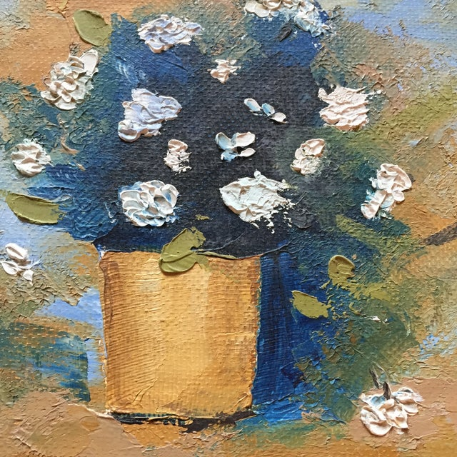 Floral Oil Painting in Gold Frame - Image 3 of 4